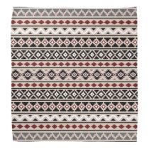 Aztec Essence II Ptn Black White Grey Red Sand Bandana