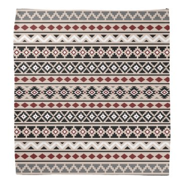 Aztec Themed Aztec Essence II Ptn Black White Grey Red Sand Bandana