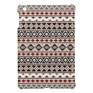 Aztec Essence II Ptn Black White Grey Red Sand iPad Mini Cover
