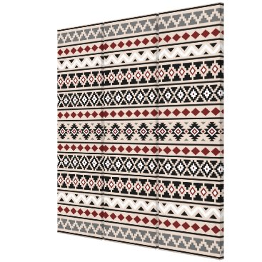 Aztec Themed Aztec Essence II Ptn (H) Black White Grey Red Sand Canvas Print