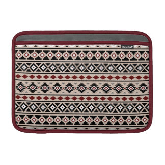 Aztec Essence II Ptn (H) Black White Grey Red Sand MacBook Sleeve