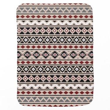 Aztec Themed Aztec Essence II Ptn (H) Black White Grey Red Sand Swaddle Blanket