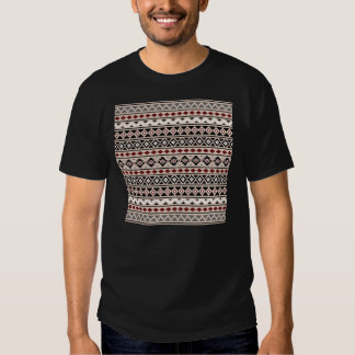 Aztec Essence II Ptn (H) Black White Grey Red Sand T-shirt