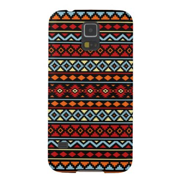 Aztec Themed Aztec Essence II Ptn Red Blue Orange Yellow Blk Galaxy S5 Cover
