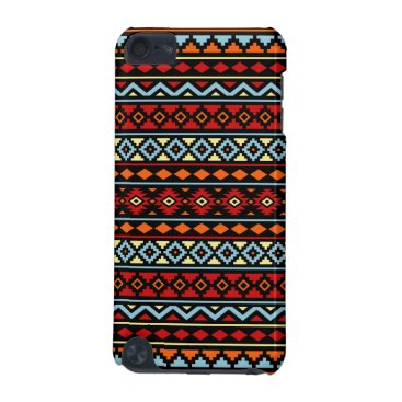 Aztec Themed Aztec Essence II Ptn Red Blue Orange Yellow Blk iPod Touch (5th Generation) Cover