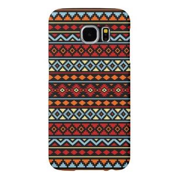 Aztec Themed Aztec Essence II Ptn Red Blue Orange Yellow Blk Samsung Galaxy S6 Case