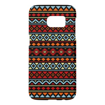 Aztec Themed Aztec Essence II Ptn Red Blue Orange Yellow Blk Samsung Galaxy S7 Case