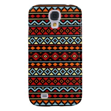 Aztec Themed Aztec Essence II Ptn Red Blue Orange Yellow Blk Samsung S4 Case