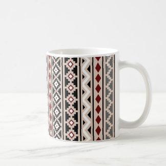 Aztec Essence II Ptn (V) Black White Grey Red Sand Coffee Mug