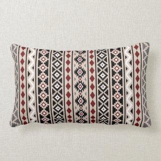 Aztec Essence II Ptn (V) Black White Grey Red Sand Lumbar Pillow