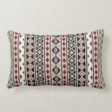 Aztec Themed Aztec Essence II Ptn (V) Black White Grey Red Sand Lumbar Pillow