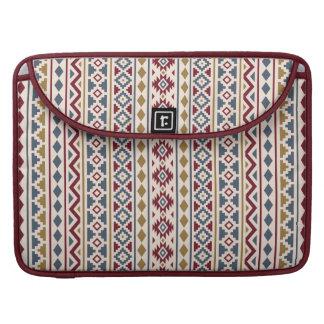 Aztec Essence II (V) Ptn Red Blue Gold Cream Sleeve For MacBooks
