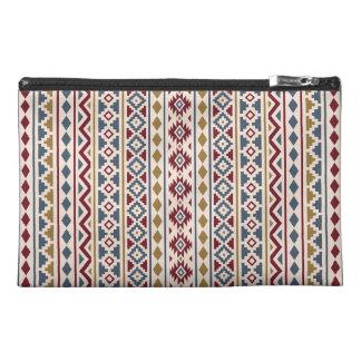 Aztec Essence II (V) Ptn Red Blue Gold Cream Travel Accessory Bag