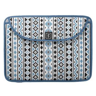 Aztec Essence II Vertical Ptn Blue Black White Sleeve For MacBooks