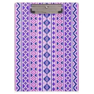 Aztec Essence II Vertical Ptn Pinks Blue Purple Clipboard