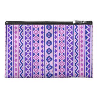 Aztec Essence II Vertical Ptn Pinks Blue Purple Travel Accessory Bag