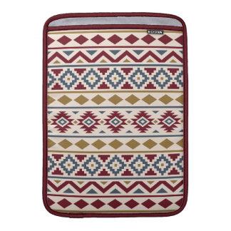 Aztec Essence III (H) Ptn Red Blue Gold Cream MacBook Sleeve