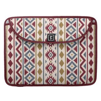Aztec Essence III (V) Ptn Red Blue Gold Cream MacBook Pro Sleeve