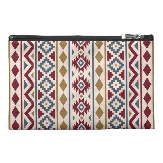 Aztec Essence III (V) Ptn Red Blue Gold Cream Travel Accessory Bag