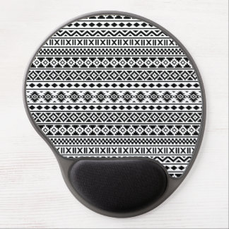 Aztec Essence Pattern Black on White Gel Mouse Pad