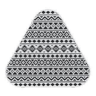 Aztec Essence Pattern II Black on White Bluetooth Speaker