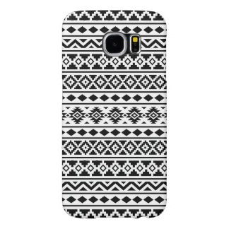 Aztec Essence Pattern II Black on White Samsung Galaxy S6 Cases