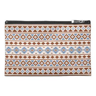 Aztec Essence Pattern II Rust Blue Cream Travel Accessories Bags