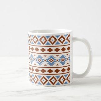 Aztec Essence Pattern II Rust Blue Cream Coffee Mug