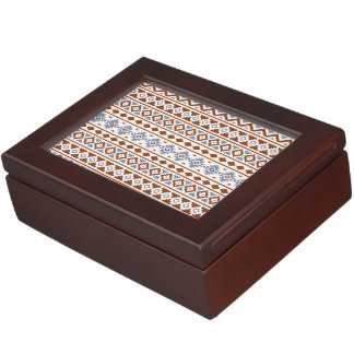 Aztec Essence Pattern II Rust Blue Cream Memory Box