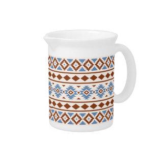 Aztec Essence Pattern II Rust Blue Cream Beverage Pitcher