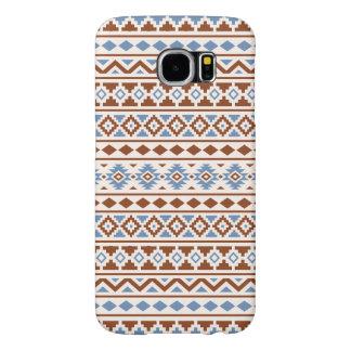 Aztec Essence Pattern II Rust Blue Cream Samsung Galaxy S6 Cases