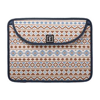 Aztec Essence Pattern II Rust Blue Cream Sleeve For MacBooks