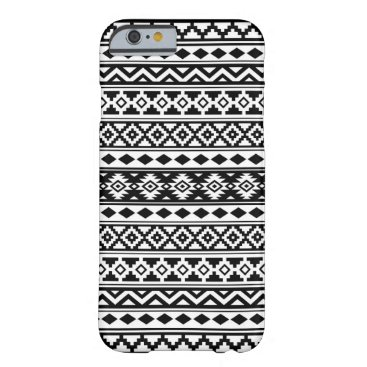 Aztec Themed Aztec Essence Pattern IIb Black & White Barely There iPhone 6 Case