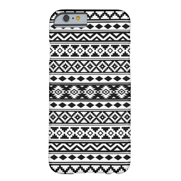 Aztec Essence Pattern IIb Black & White Barely There iPhone 6 Case