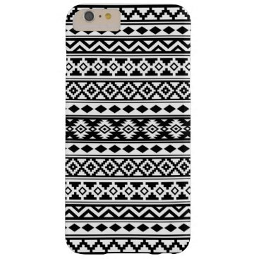 Aztec Themed Aztec Essence Pattern IIb Black & White Barely There iPhone 6 Plus Case
