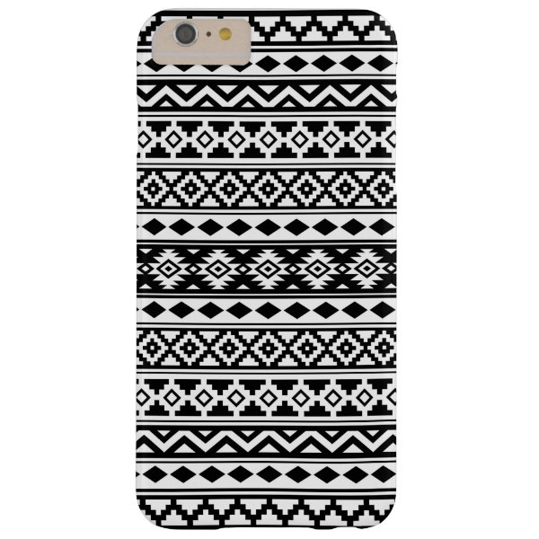 Aztec Essence Pattern IIb Black & White Barely There iPhone 6 Plus Case