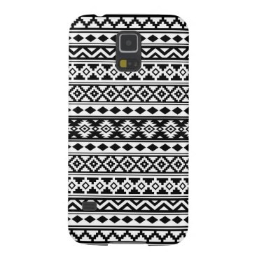Aztec Themed Aztec Essence Pattern IIb Black & White Case For Galaxy S5