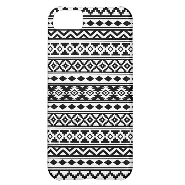 Aztec Essence Pattern IIb Black & White Case For iPhone 5C