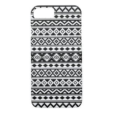 Aztec Themed Aztec Essence Pattern IIb Black & White iPhone 7 Case