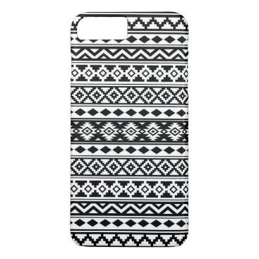 Aztec Themed Aztec Essence Pattern IIb Black & White iPhone 7 Plus Case