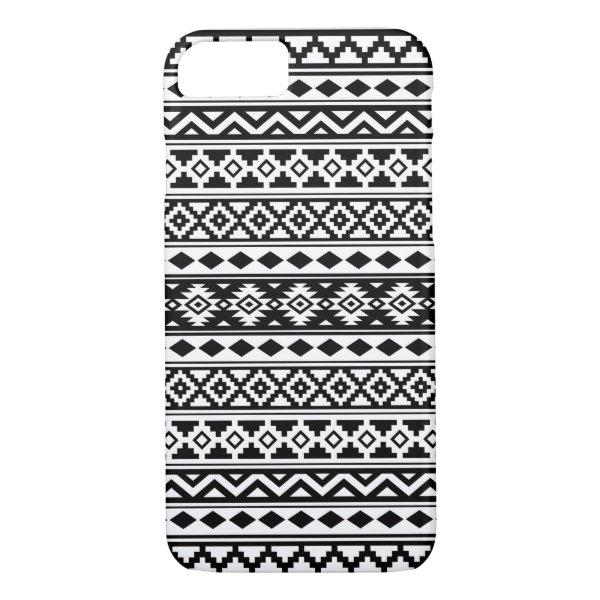 Aztec Essence Pattern IIb Black & White iPhone 8/7 Case