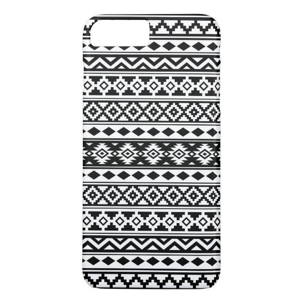 Aztec Essence Pattern IIb Black & White iPhone 8 Plus/7 Plus Case