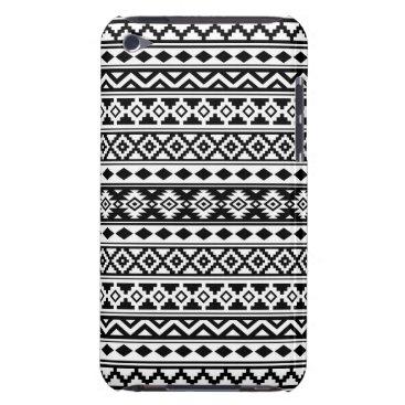 Aztec Themed Aztec Essence Pattern IIb Black & White iPod Touch Case