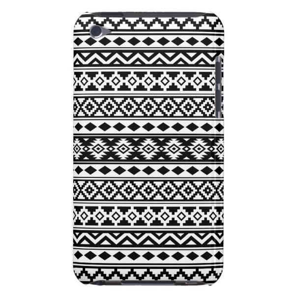 Aztec Essence Pattern IIb Black & White iPod Touch Case