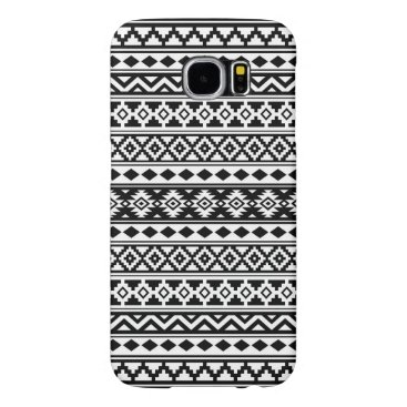 Aztec Themed Aztec Essence Pattern IIb Black & White Samsung Galaxy S6 Case
