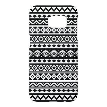Aztec Themed Aztec Essence Pattern IIb Black & White Samsung Galaxy S7 Case