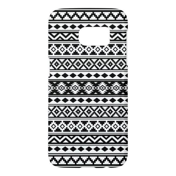 Aztec Essence Pattern IIb Black & White Samsung Galaxy S7 Case