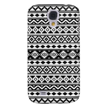 Aztec Themed Aztec Essence Pattern IIb Black & White Samsung S4 Case
