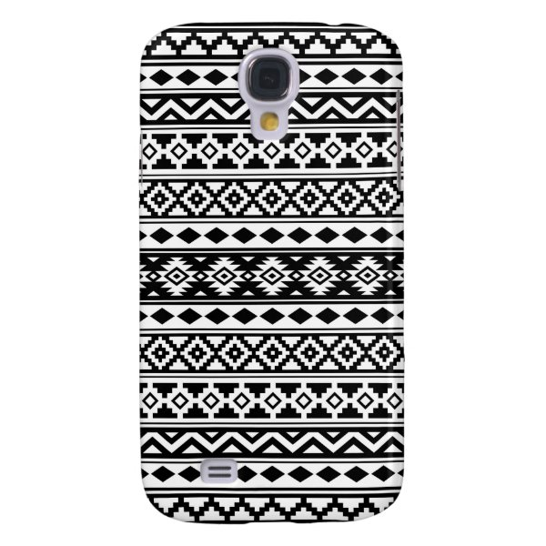 Aztec Essence Pattern IIb Black & White Samsung S4 Case