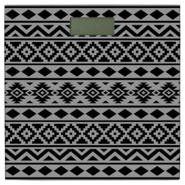 Aztec Themed Aztec Essence Pattern III Black on Grey Bathroom Scale